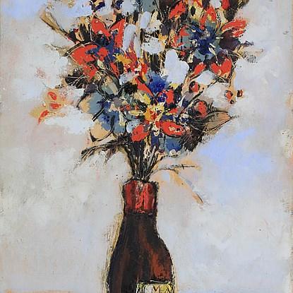 Bouquet  - Hugues Pissarro dit Pomié (b. 1935 - )