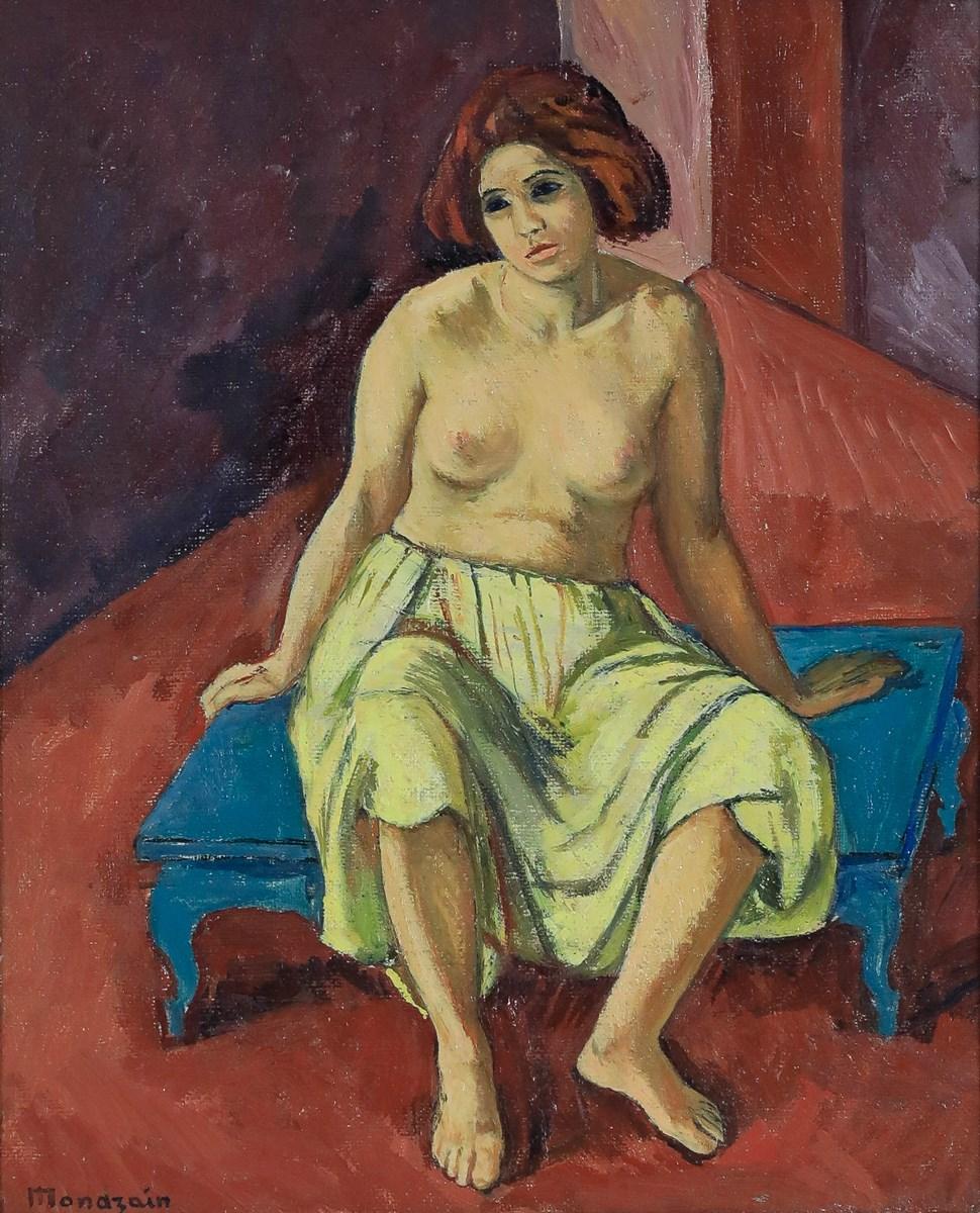 Nue Assise - Simon Francois Stanislas Mondzain (1890 - 1979)
