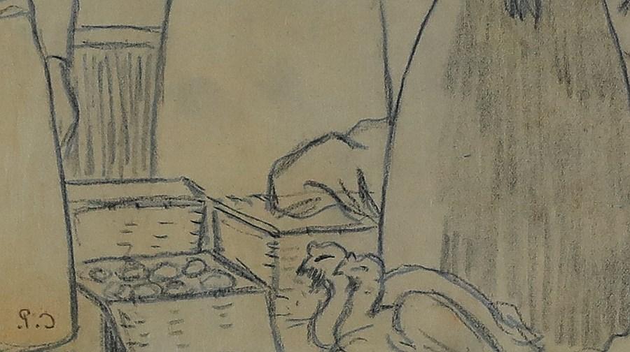 Le Marché - Camille Pissarro (1830 - 1903)
