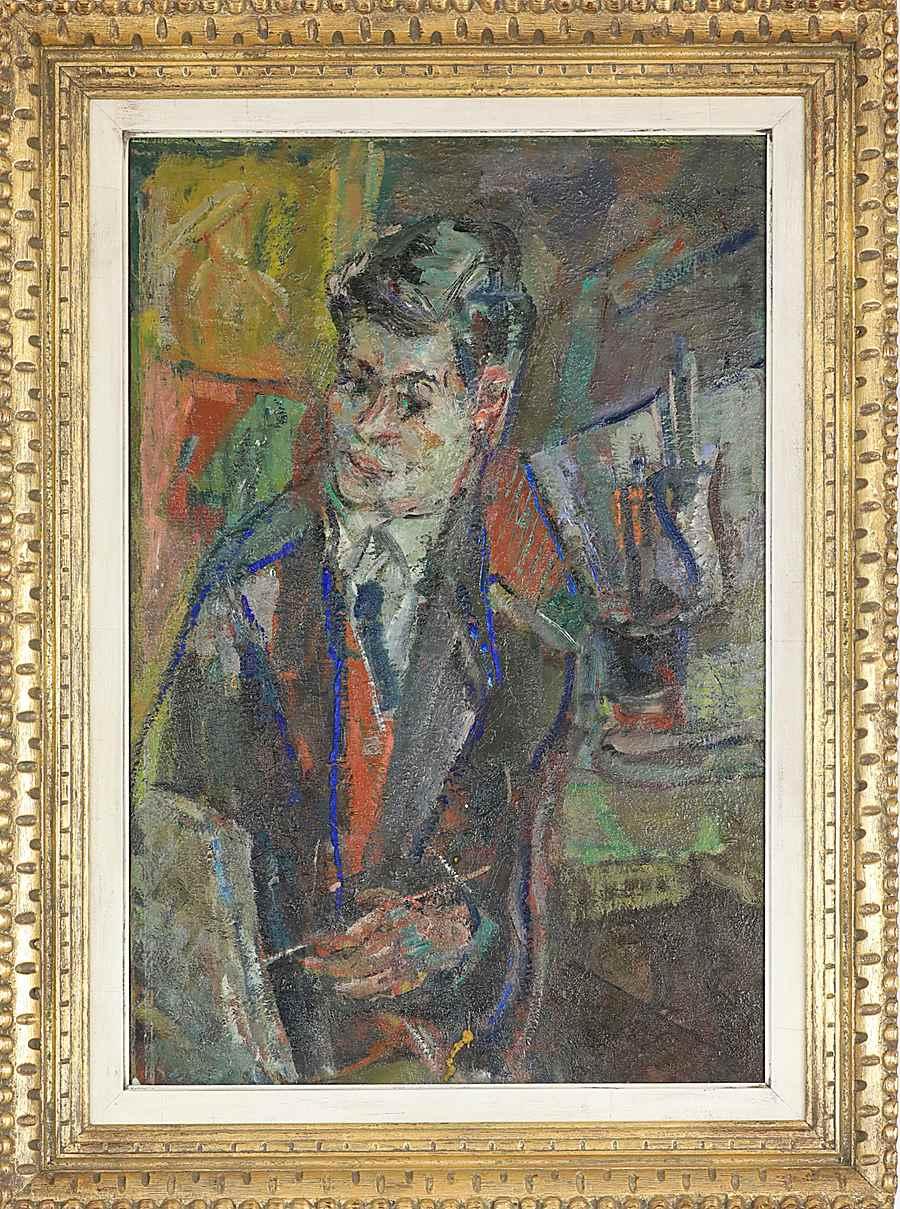Portrait of Jacques Chalom - Michel Kikoïne (1892 - 1968)