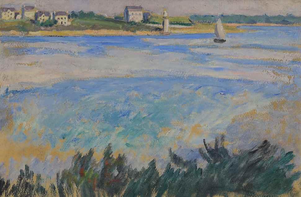 Voilier en Bord de Mer - Jean  Puy  (1876 - 1960)