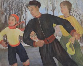 Orovida Pissarro - Winter (The Skaters)