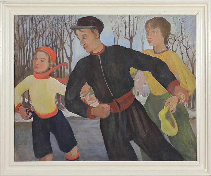 Winter (The Skaters) - Orovida Pissarro (1893 - 1968)