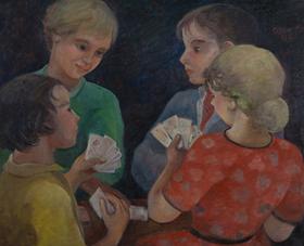 Orovida Pissarro - A Game of Cards