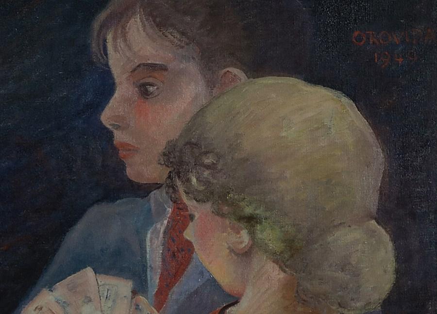 A Game of Cards - Orovida Pissarro (1893 - 1968)