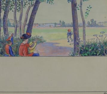 Lucien Pissarro - Apparition des Premiers Habitants