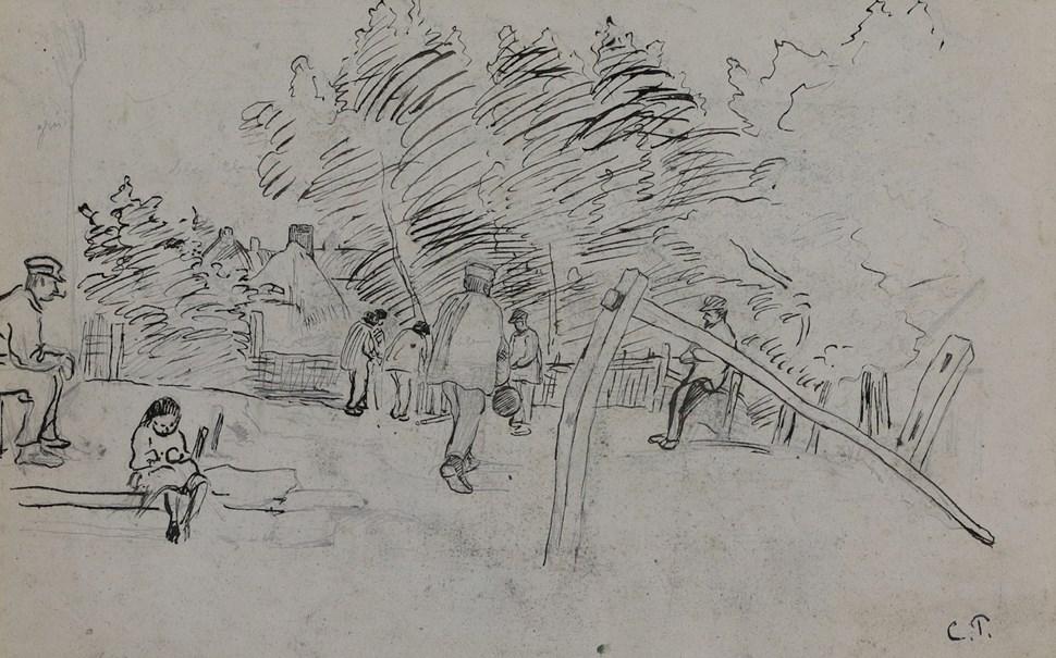 Auvers-sur-Oise Étude - Camille Pissarro (1830 - 1903)