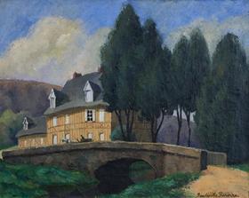 Paulémile Pissarro - La Maison Normande au Bord du Ruisseau