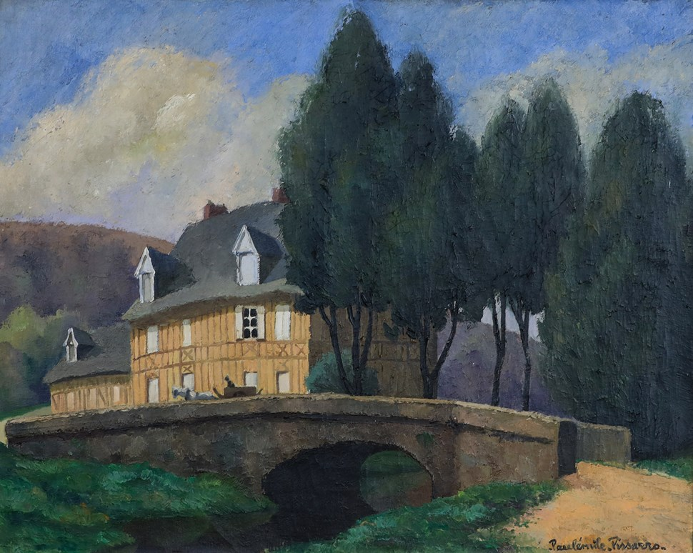 La Maison Normande au Bord du Ruisseau - Paulémile Pissarro (1884 - 1972)