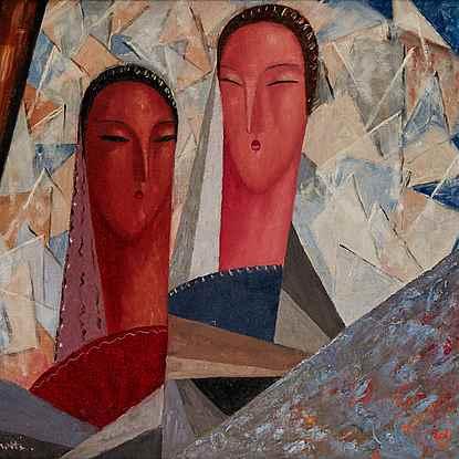 Deux Castillanes - Jean Crotti (1878 - 1958)