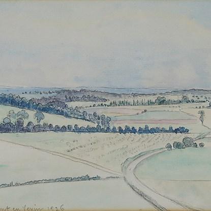 Chaumont-en-Véxin - Lucien Pissarro (1863 - 1944)