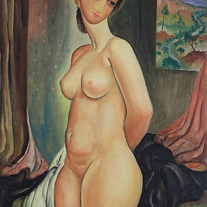 Nude - Moshe Castel (1909 - 1991)