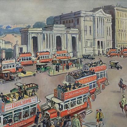 Hyde Park Corner - Ludovic-Rodo Pissarro (1878 - 1952)