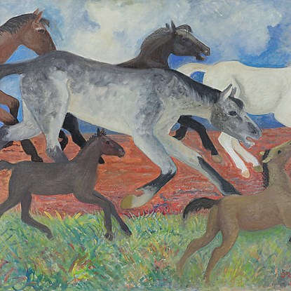 Migrating Horses - Orovida Pissarro (1893 - 1968)