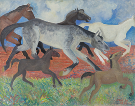 Orovida Pissarro - Migrating Horses