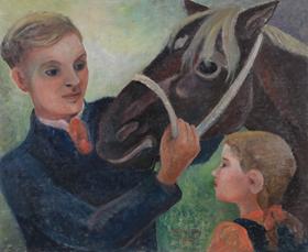 Orovida Pissarro - Father, Daughter and Horse