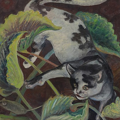 Cat and Mouse - Orovida Pissarro (1893 - 1968)