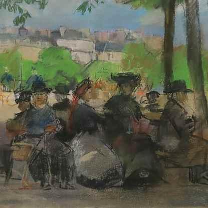 Figures in a Park, Paris - Isaac Israëls (1865 - 1934)