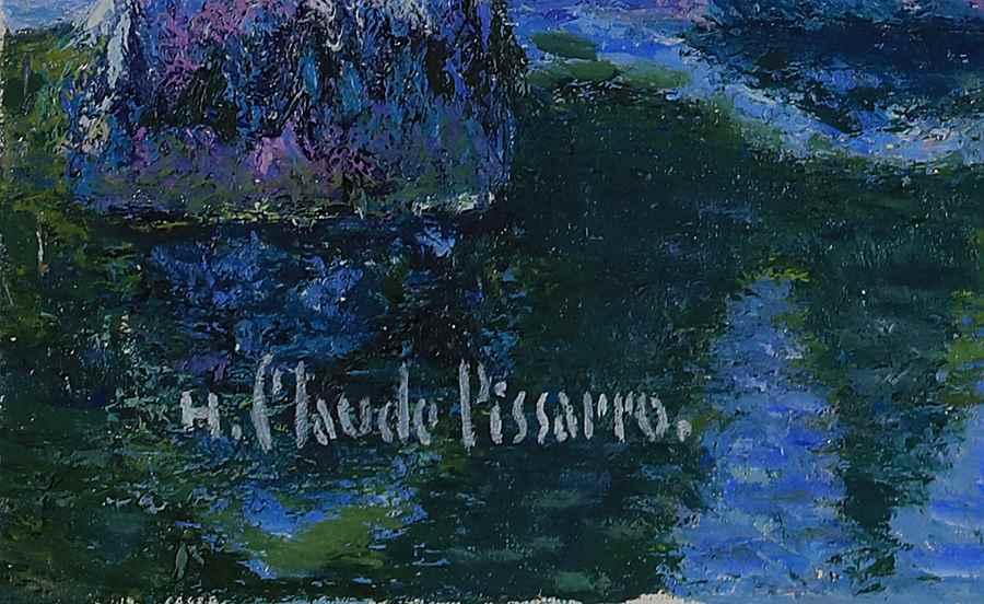 Noël, à Bonneville-la-Louvée, chez Kiki - H. Claude Pissarro (b. 1935 - )