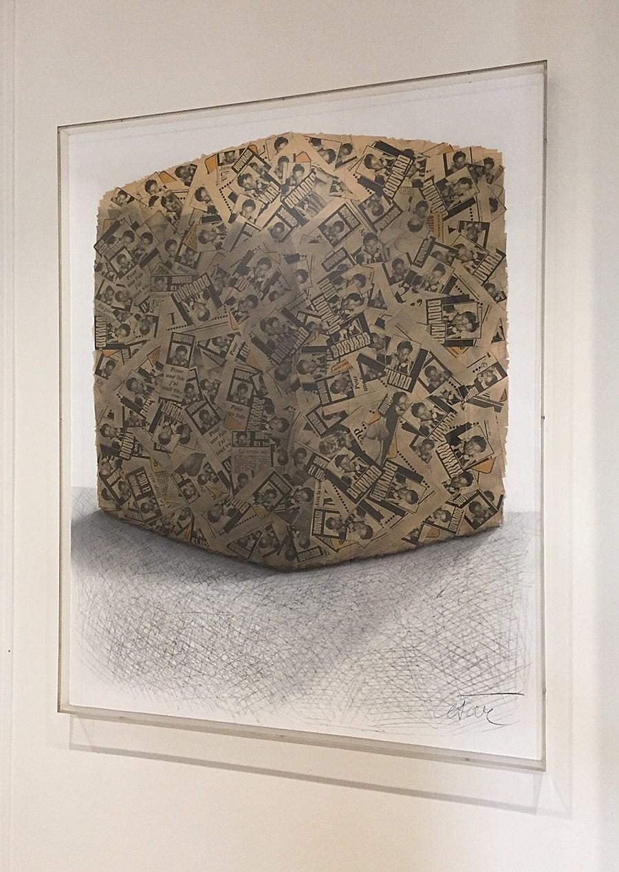 Portrait de Compression - César  (César Baldaccini) (1921 - 1998)