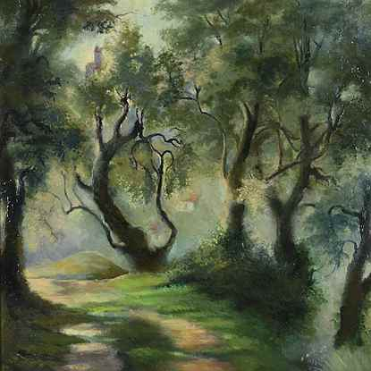 Pathway Near Menton - Felix  Pissarro II
