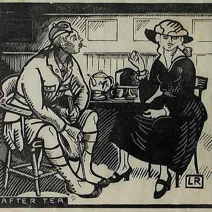 After Tea - Ludovic-Rodo Pissarro (1878 - 1952)