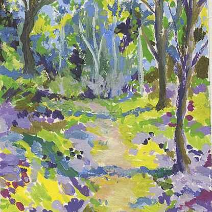 Isabella Plantation, Richmond Park - Lélia Pissarro, Figurative (b. 1963 - )