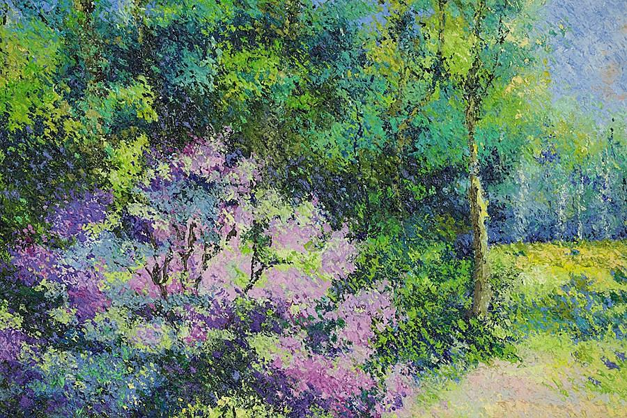 Le Jardin de Lélia Pissarro - Lélia Pissarro, Figurative (b. 1963 - )