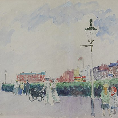 The Promenade, Margate - Ludovic-Rodo Pissarro (1878 - 1952)