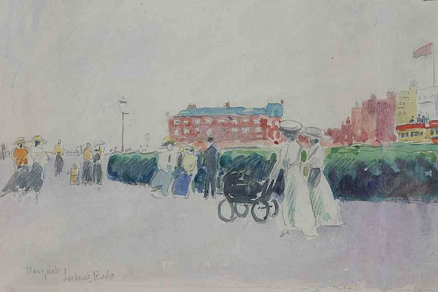 The Promenade, Margate - Ludovic-Rodo Pissarro (1878 - 1952)