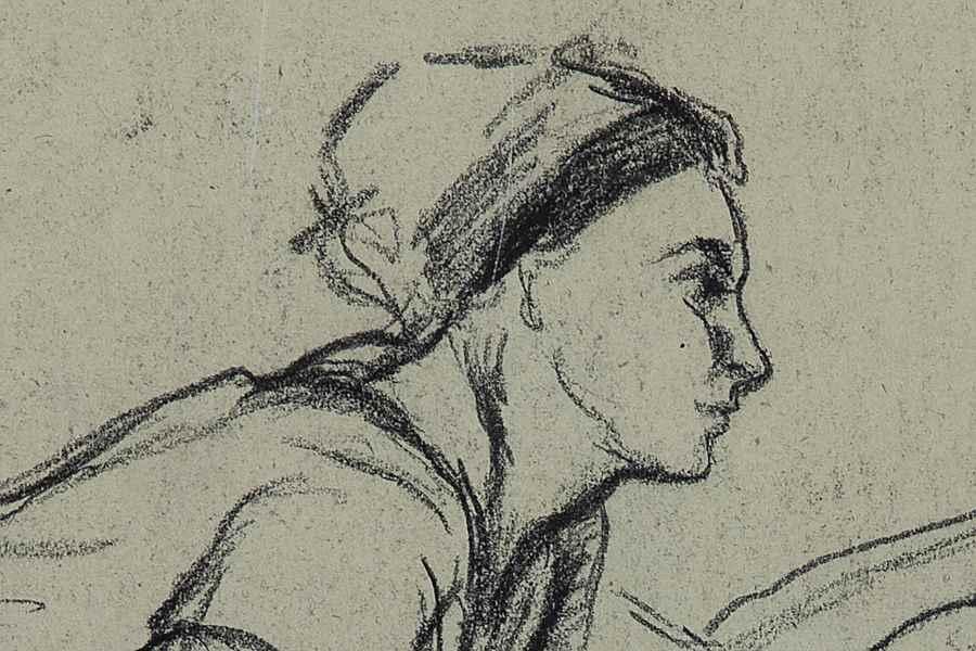 Deux Femmes - Camille Pissarro (1830 - 1903)