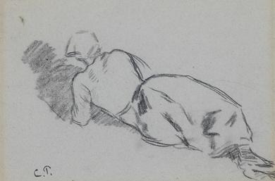 Camille Pissarro - Femme au fichu, allongée