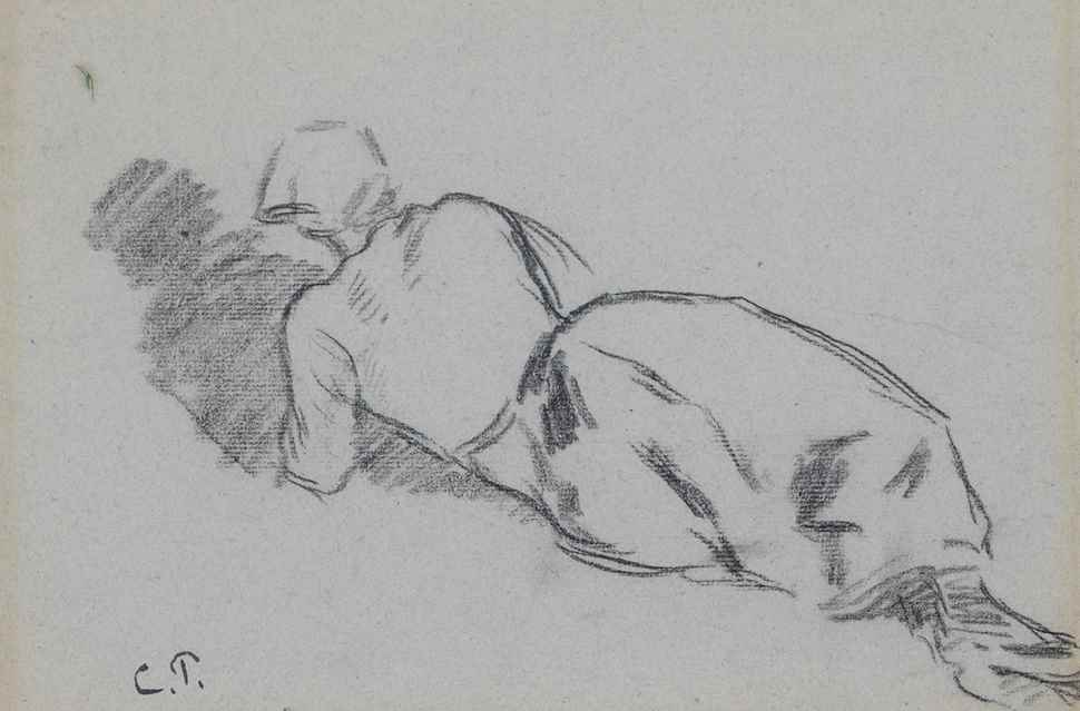 Femme au fichu, allongée - Camille Pissarro (1830 - 1903)