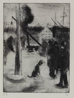 Camille Pissarro - Cours Boïeldieu, à Rouen