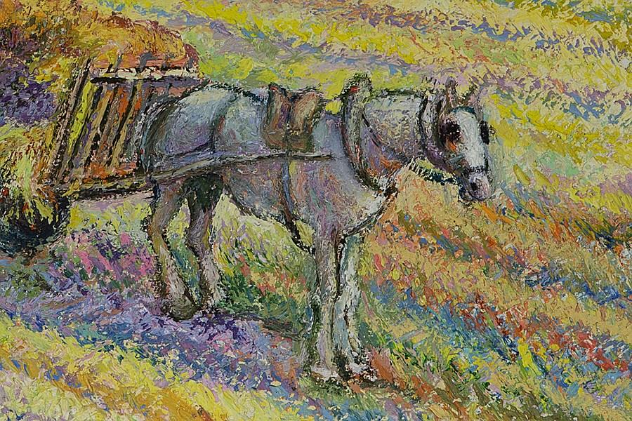 Les Foins au Vey-Clécy (Normandie) - H. Claude Pissarro (b. 1935 - )