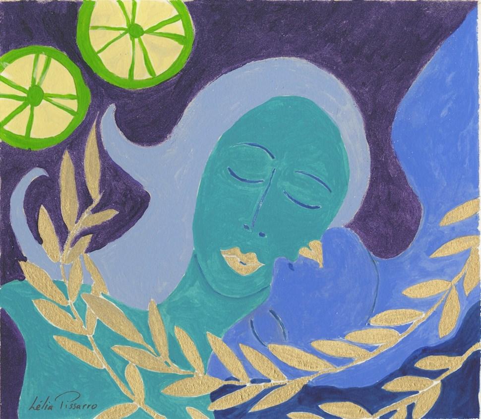 Mother and Daughter - Lélia Pissarro, Contemporary (b. 1963 - )