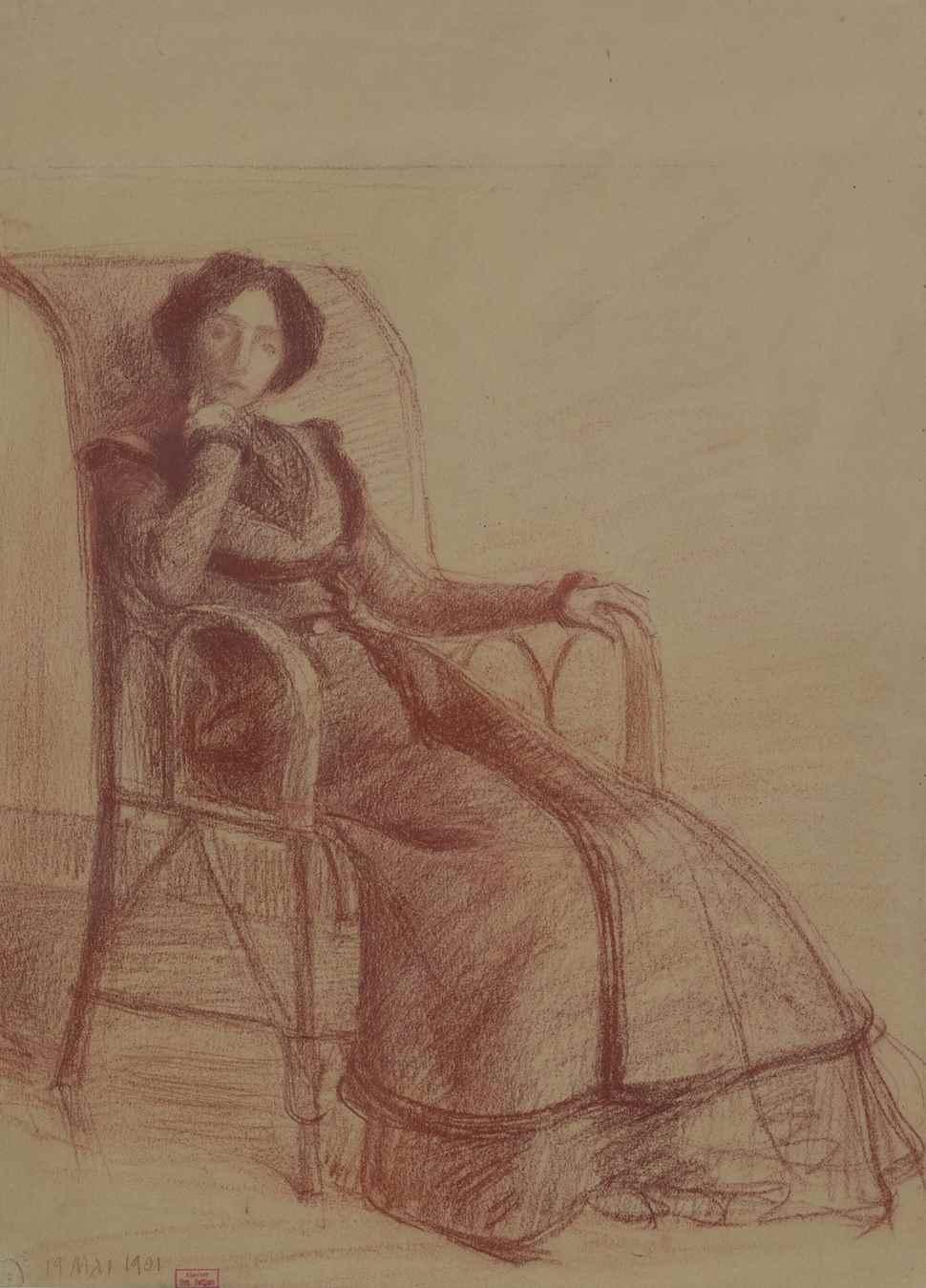 Madame Petitjean Assise, 19 mai 1901 - Hippolyte Petitjean (1854 - 1929)