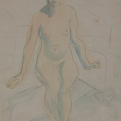 Seated Nude - Leon Underwood (1890 - 1975)