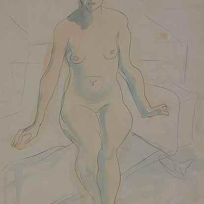 Seated Nude - Leon Underwood (1890 - 1975)