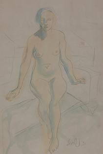 Leon Underwood - Seated Nude