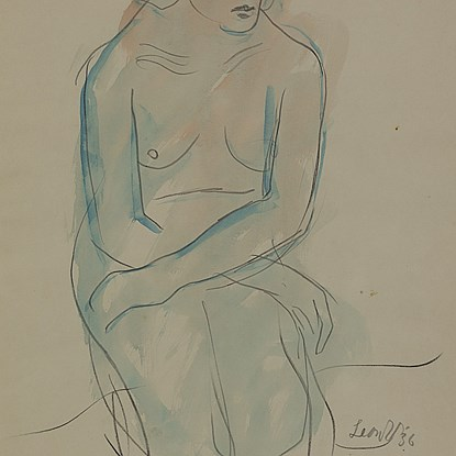 Kneeling Nude - Leon Underwood (1890 - 1975)