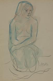 Leon Underwood - Kneeling Nude