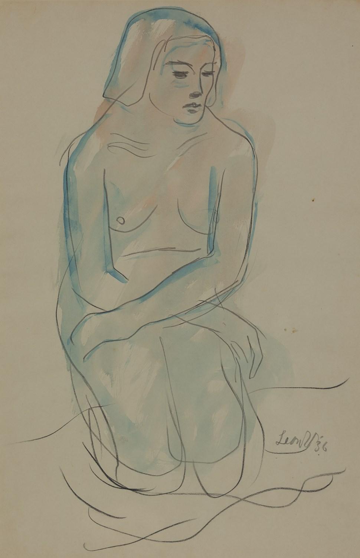 Kneeling Nude - Leon Underwood (1890 - 1975)