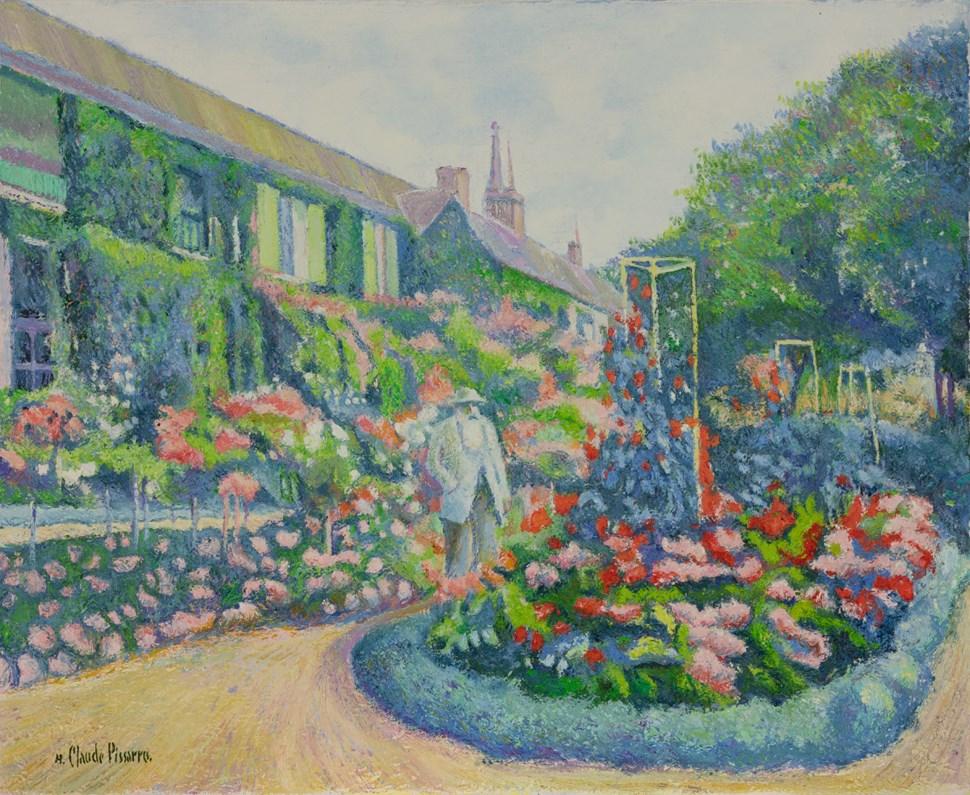 Le Peintre Claude Monet dans son Jardin de Giverny - H. Claude Pissarro (b. 1935 - )