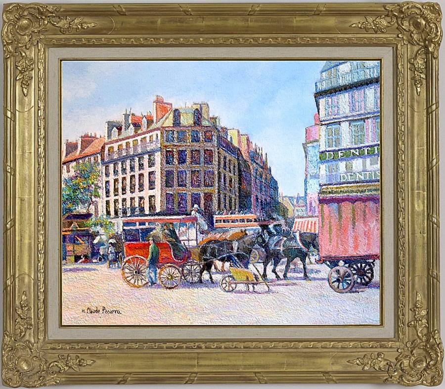 L'Omnibus de Clichy - H. Claude Pissarro (b. 1935 - )