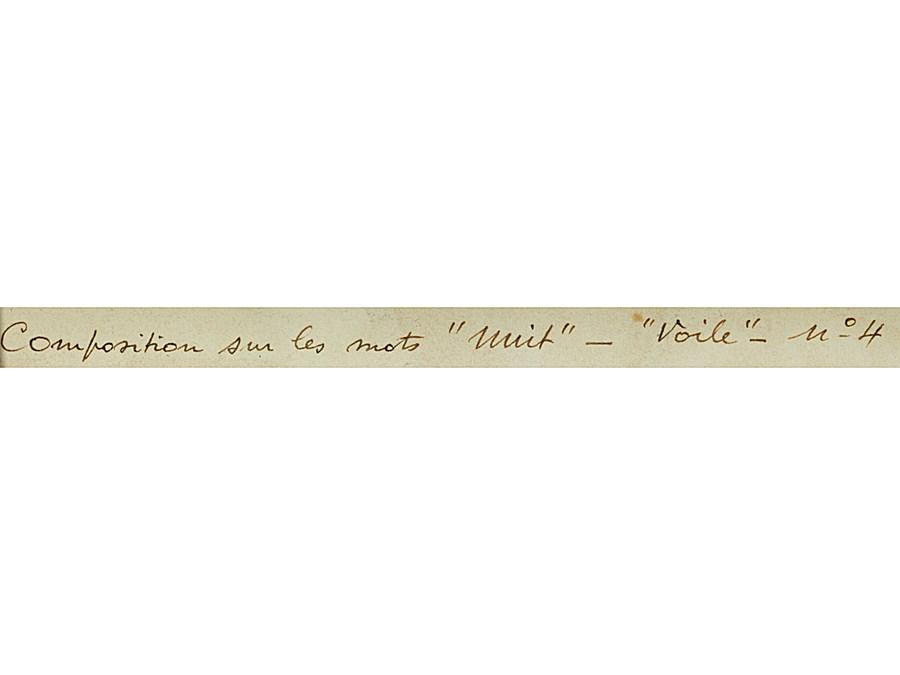 Nuit, Voile n. 4 - Auguste Herbin (1882 - 1960)