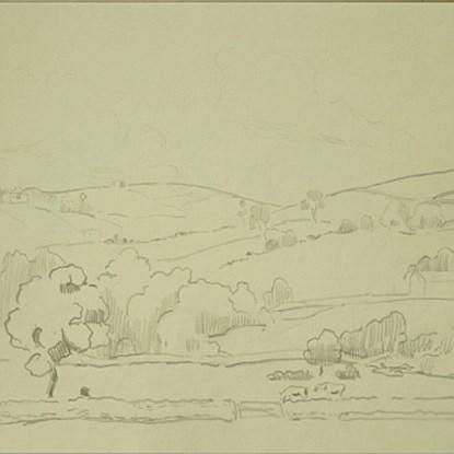 Landscape in Devon - Orovida Pissarro (1893 - 1968)