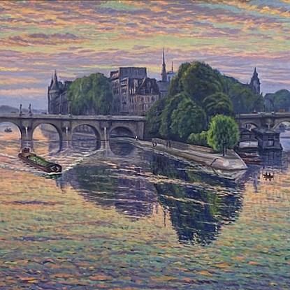 Pont Neuf, Paris - Gustave Cariot (1872 - 1950)