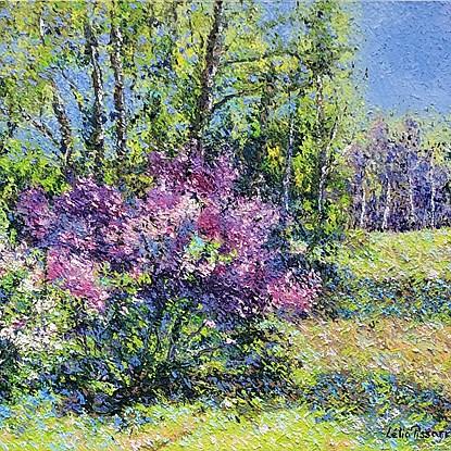Le Jardin de David et Lélia - Lélia Pissarro, Figurative (b. 1963 - )