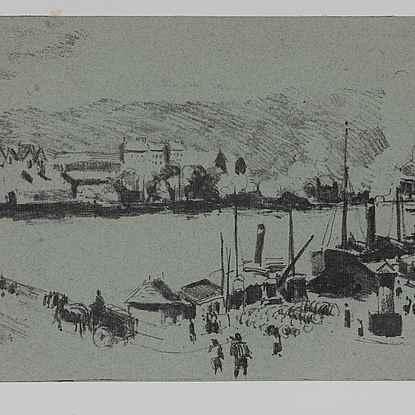 Quai Boïeldieu, à Rouen - Camille Pissarro (1830 - 1903)